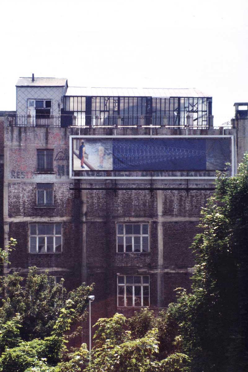 Affichage de 20m2 lors de l'ouverture des ateliers aux moving art studio