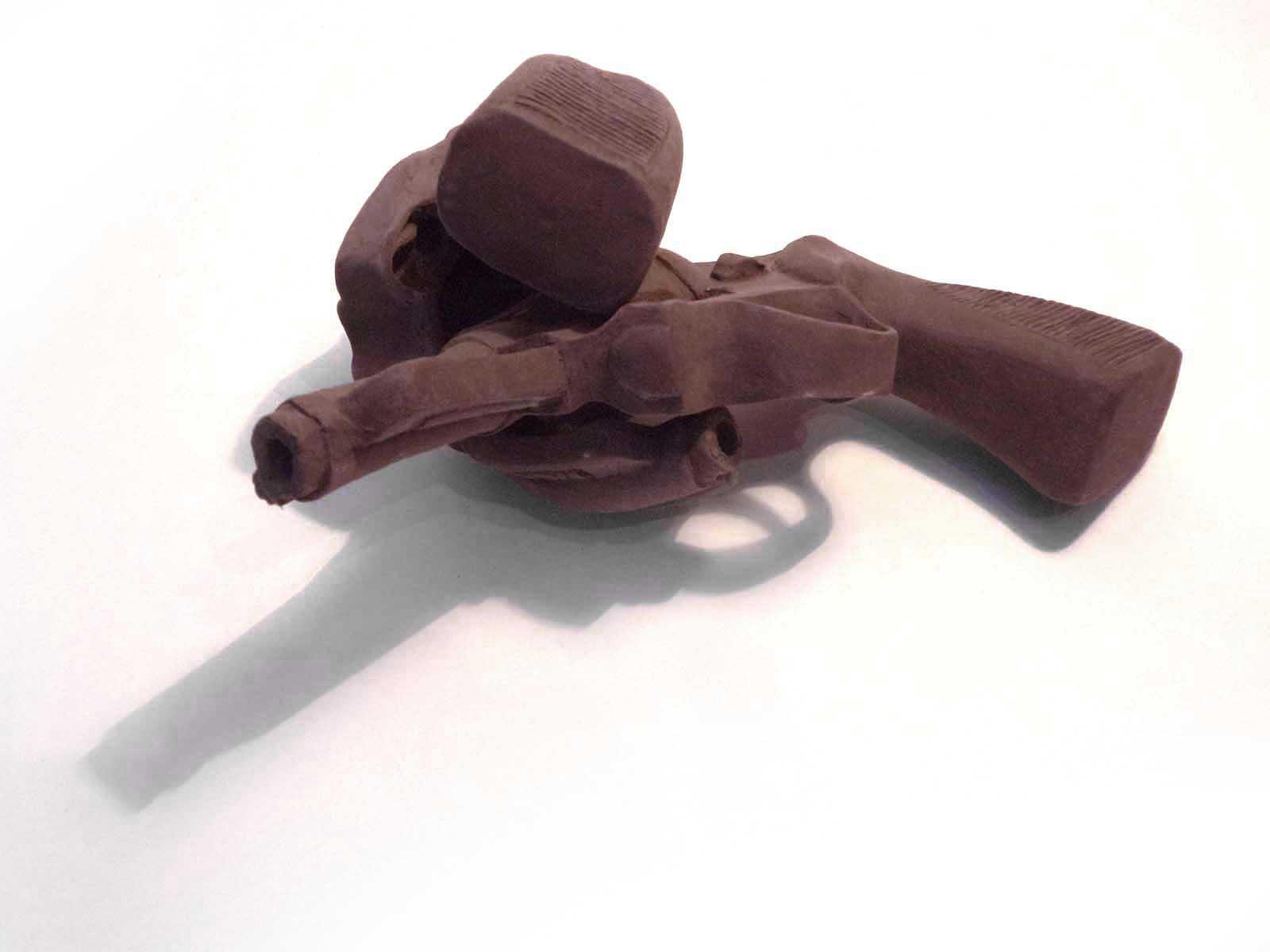 Revolvers de terre cuite nue.